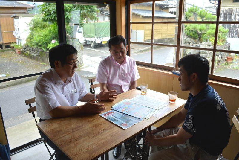 甑島の関係事業者訪問